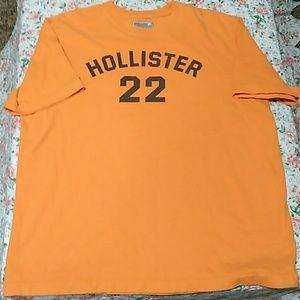 Orange Hollister Tee-shirt size Large